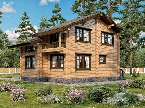 Выбираем популярный проект дома из бруса