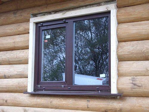 Ставим окна в дом из бревна