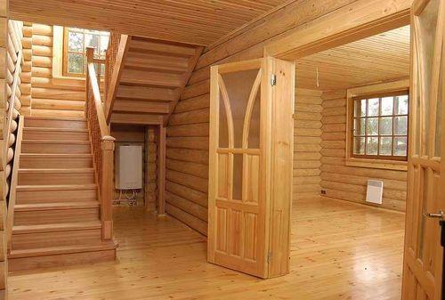 Внутренняя отделка брусового дома