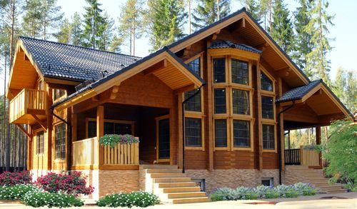 Дом из дубового бруса